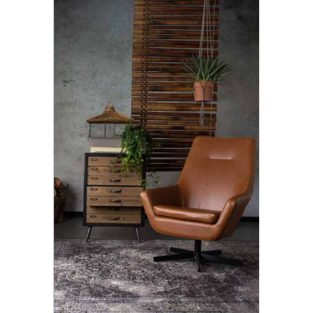 Dutch Bone - Lounge stoel Don Cognac